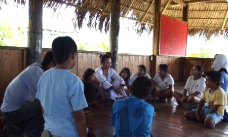 Master Thu-Hien supporting an orphanage in the Amazon jungle, Peru