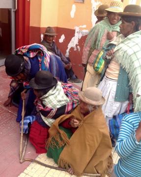 An elderly indigenous gathering, Bolivia